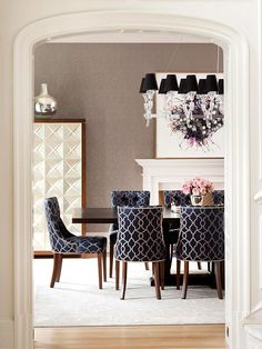 Different End Chairs In Dining Room Could Try With My Burlap