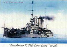 Sms sankt georg was an austro hungarian armored cruiser launched at pola as an improvement ov Austro Hungarian, Bank Of India, Battleship, Great Britain, World War, Abandoned, Coastal, Empire, Guns