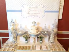 First communion sweet table