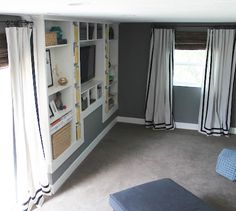 Perking Up a Room With Drop Cloth Curtains— from BHG.  SO many styles and choices!