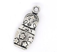 10 Pewter Russian DOLL Charm Pendants 22x9mm by SmartParts, $2.79  jewelry making, craft supplies, diy
