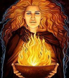 Héstia (ou Vesta, na mitologia romana) é a deusa grega dos laços familiares, simbolizada pelo fogo da lareira. Filha de Saturno e Cibele (na mitologia romana), filha de Cronos e Reia para os gregos, era uma das doze divindades olímpicas.