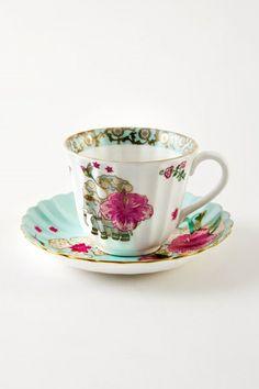 Serendib Cup & Saucer (Set of Linen Bedroom, Home Fragrances, Cup And Saucer Set, Bone China, Tea Set, Dinnerware, Tea Cups, Golden Highlights, Porcelain
