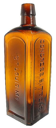 HELLMAN'S CONGRESS BITTERS ST LOUIS. MO. 9 1-8 inches.