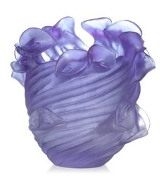 Purple/Violet Vase by Daum Crystal