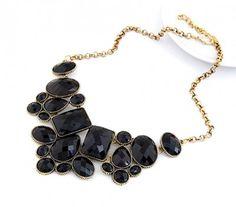 Czarny Naszyjnik Choker Kolia Geometric #necklace #naszyjnik #kolia #choker #black