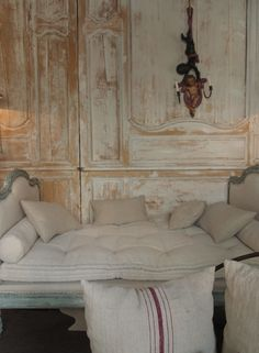 old doors, daybed