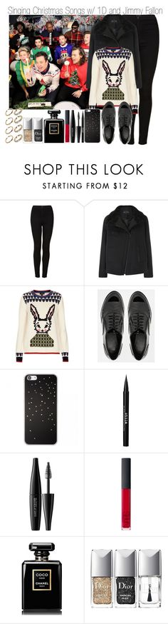"""Singing Christmas Songs w/ 1D and Jimmy Fallon"" by elise-22 ❤ liked on Polyvore featuring Topshop, Proenza Schouler, ASOS, Stila, MAKE UP FOR EVER, NARS Cosmetics, Chanel, Christian Dior and ALDO"