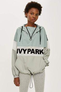 Sheer Flock Logo Jacket by Ivy Park - Jackets & Coats - Clothing - Topshop Europe Coats For Women, Clothes For Women, Topshop Outfit, Women's Summer Fashion, Sport Wear, Apparel Design, Vintage Denim, What To Wear, Hooded Jacket