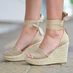 9026aa4de3 Shoes 54 Wrap Up Into Summer Beige Wedge