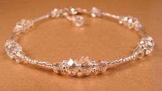 Crystal Ankle Bracelet Crystal Anklet Beaded Anklet Beaded Jewelry Crystal Jewelry. $14.00, via Etsy.