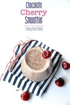 Chocolate Cherry Smoothie