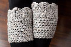 Crochet Pattern Scallop Boot Cuffs by ElizabethLouCo on Etsy