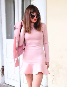 candy pink total look