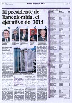 Andres Jaramillo Lopez entre los líderes con mayor reputación en Colombia.   Andres Jaramillo Conalvias fue reconocido por el periódico Portafolio como uno de los líderes con mayor reputación de Colombia. Así lo destacó en el especial Merco empresas 2014, que recoje los resultados del ranking de reputación corporativa Merco.