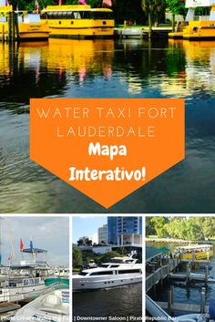 Water taxi Fort Lauderdale, an interactive map with all the stops. Download it here!/Mapa interativo do Water taxi Fort Lauderdale
