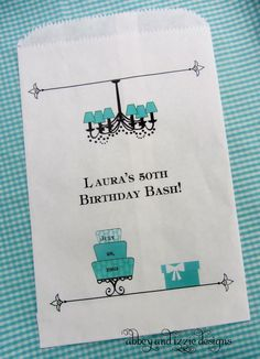 Tiffany Blue Candy Bags, Treat Bags, Birthday Favor Bags, Candy Buffet Bags,. $27.00, via Etsy.