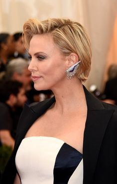 """Actress Charlize Theron at the """"Charles James: Beyond Fashion"""" Costume Institute Gala ,May 2014 ."""