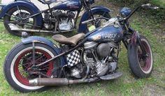 Bobber Inspiration | Old school Panhead bobber | Bobbers and Custom Motorcycles