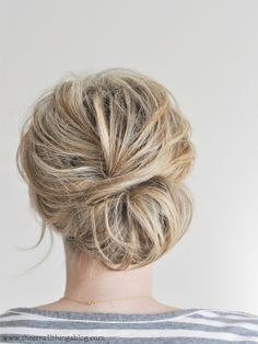 low chignon hair tutorial / the small things blog