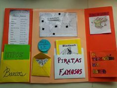Maestra de Primaria: Lapbook o libros desplegables con bolsillos School Projects, Projects For Kids, Pirate Activities, Lap Books, Grande Section, Project Board, Teacher Hacks, Interactive Notebooks, Bookbinding