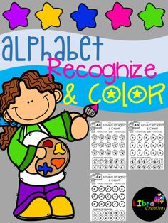 Alphabet Product, Alphabet Activities, Alphabet Fun Activities, Alphabet, Alphabet Recognize & Color, Pre-K, Kindergarten, 1st Grade