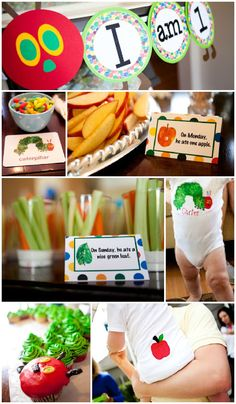 Very Hungry Caterpillar first birthday party ideas
