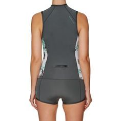 Roxy Syncro 1mm 2018 Front Zip Short Sleeve Shorty Wetsuit - Ash/ Pistaccio | Free Delivery*