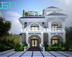 Classic House Exterior, Modern Exterior House Designs, Small House Exteriors, Classic House Design, Unique House Design, Bungalow House Design, Cool House Designs, House Plans Mansion, Duplex House Plans