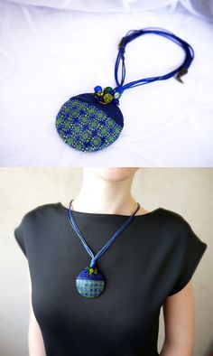 Kaleidoscope necklace Polymer clay Kaleidoscope by BeLoveCreate
