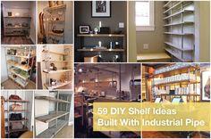 DIY Shelf Ideas Built with Industrial Pipe http://www.simplifiedbuilding.com/blog/59-diy-shelf-ideas-built-with-industrial-pipe/ #DIY #Industrial #Rustic #Modern #diyshelf
