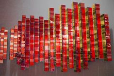 Shimmering mirrored-glass mosaic sculpture for the wall
