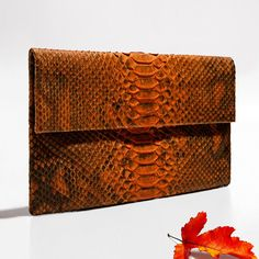 Fall colors. Verinosa python clutch. More colors www.verinosa.ee
