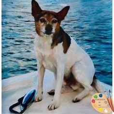 Portraits by NC.com Custom Painted Pet Portraits #rat #terrier #dogs #pets #animals #painting #portrait #wallart #homedecor #gifts #handmade #custom https://portraits-by-nc.com/products/rat-terrier-dog-portrait-615