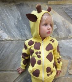 Homemade giraffe hoodie costume