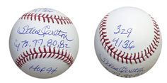 "AAA Sports Memorabilia LLC - Steve Carlton Autographed MLB Baseball Inscribed ""329"" (for number of wins), ""4136"" (for number of strikeouts), ""CY 72, 77, 80, 82"""