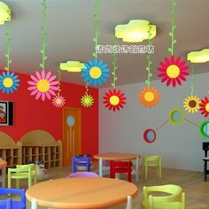 ornamentos decorativos centro comercial de la escuela primaria de jardín de infancia aula entorno de diseño de los productos * * corredor se pusieron del lado de gran encanto girasoles