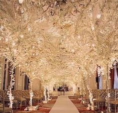 perfect for a indoor winter wedding .