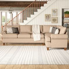 Beige Sectional, Beige Couch, Corner Sectional, Sectional Sofa, Living Spaces, Living Room, Living Area, How To Clean Furniture, Cushion Fabric
