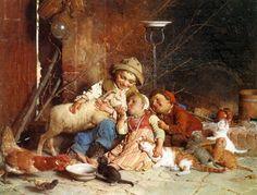 Художник Гаэтано Чиерици (Gaetano Chierici). Крестьянские дети на картинах художника