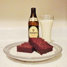 The Lovely Side: Guinness Extra Stout Brownies (Warning: Decadent! Baking With Beer, Mini Chocolate Chips, White Chocolate, Unsweetened Cocoa, Just Desserts, Bakery, Sweet Treats, Food And Drink, Yummy Food