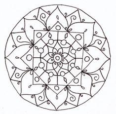 Drawing mandala line Henna Mandala, Mandala Art, Mandala Coloring Pages, Coloring Book Pages, Tangle Patterns, Embroidery Patterns, Simple Mandala, Preschool Art, Mandala Design