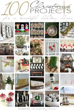 DIY Christmas Project Ideas | 25 bloggers | 100 projects! #100ChristmasProjects
