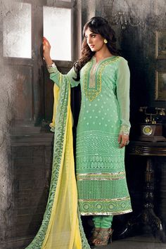 Trendy colour with Ethnic Touch.....
