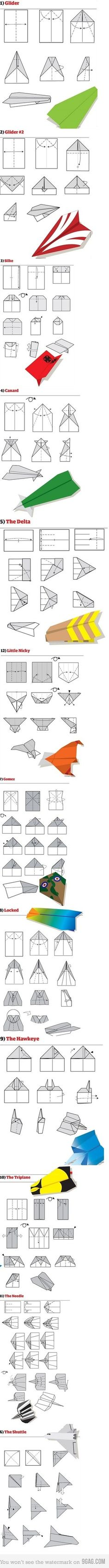 paper airplane tutorial that my sons and I have tried.  #familyfun