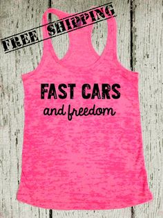 Fast Cars and Freedom. Southern Girl Tank Top. Country Tank Top. Southern Tank. Country Shirt. Pink Tank. Southern Clothing. Free Shipping on Etsy, $26.00