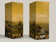 Embalagens especiais do Johnnie Walker Black Label em homenagem ao Brasil