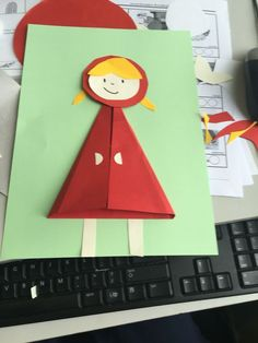 Fairy tales: Little Red Riding Hood, handicrafts - DONE . Fairy Tale Activities, Preschool Crafts, Preschool Activities, Diy And Crafts, Crafts For Kids, Arts And Crafts, Paper Crafts, Diy Paper, Fairy Tale Crafts
