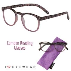 Our new Camden readers take tortoise and ombre to new heights! Available in Purple and Teal 😍