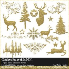 Golden Essentials No. 04 by Katie Pertiet at Designer Digitals